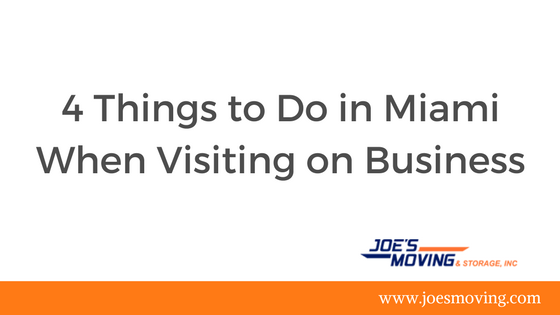 Things to do in Miami while on Business Trips