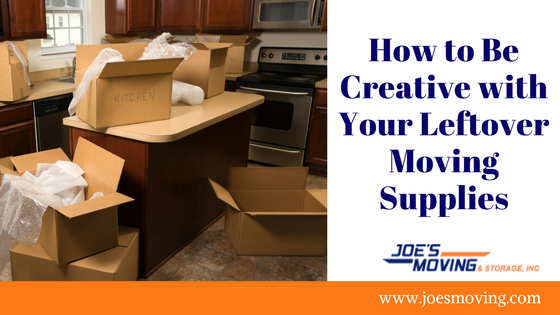 How to Be Creative with Your Leftover Moving Supplies