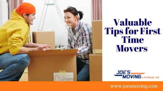 Valuable Tips for First Time Movers